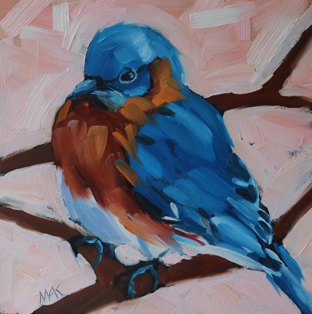 """Blue Bird"" original fine art by Mary Anne Cary"