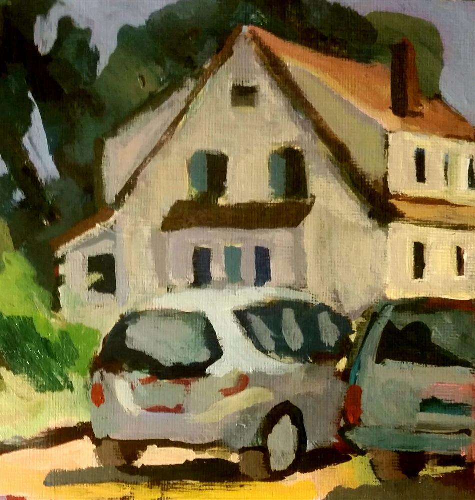 """Neighbor's House"" original fine art by Liz Maynes"