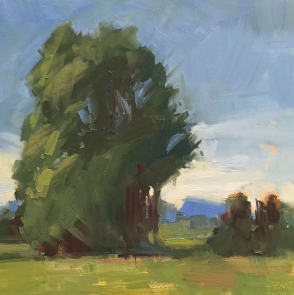 """Golden Gardens Gravel Road View"" original fine art by Patti McNutt"