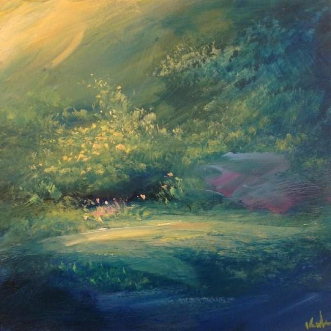 """A Place to Wait"" original fine art by David Kuhn"