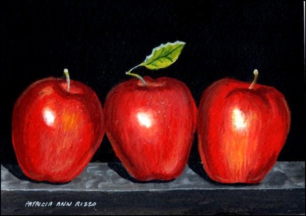 """An Apple A Day"" original fine art by Patricia Ann Rizzo"