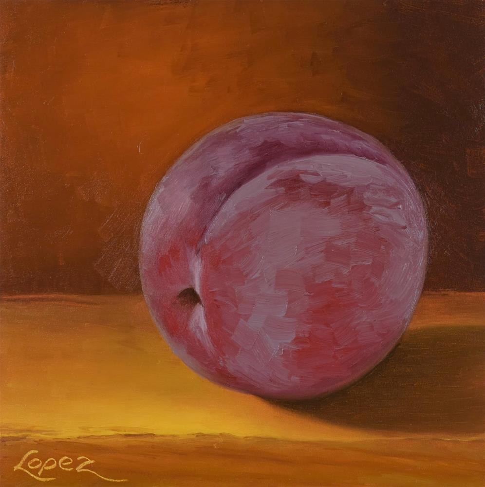 """11. Red Plum"" original fine art by Gema Lopez"