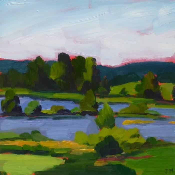 """Maney's Pond"" original fine art by Jessica Miller"