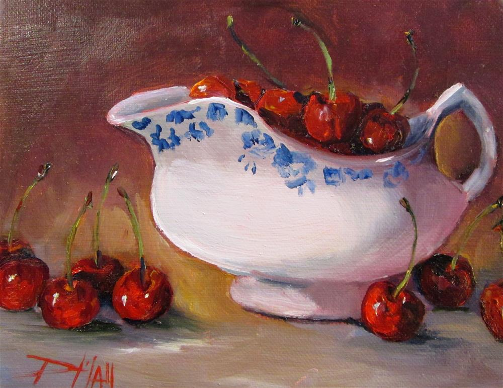 """Life is a Bowl of Cherries"" original fine art by Delilah Smith"