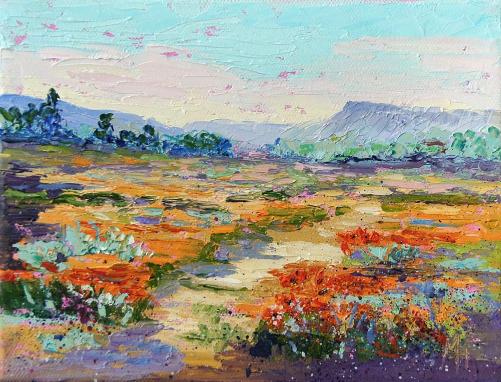 """""""Wildflower Walk"""" original fine art by Marion Hedger"""