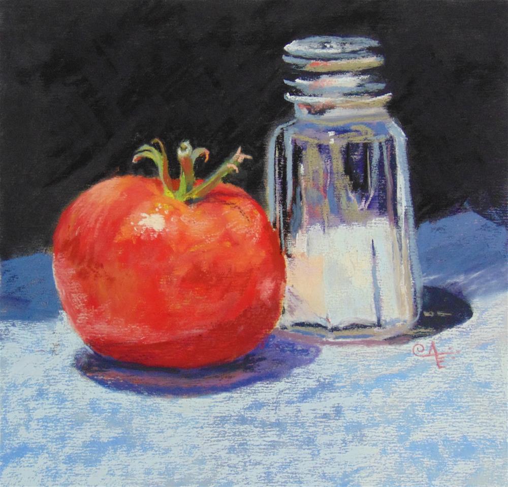 """Salted Tomato"" original fine art by Catherine Kauffman"