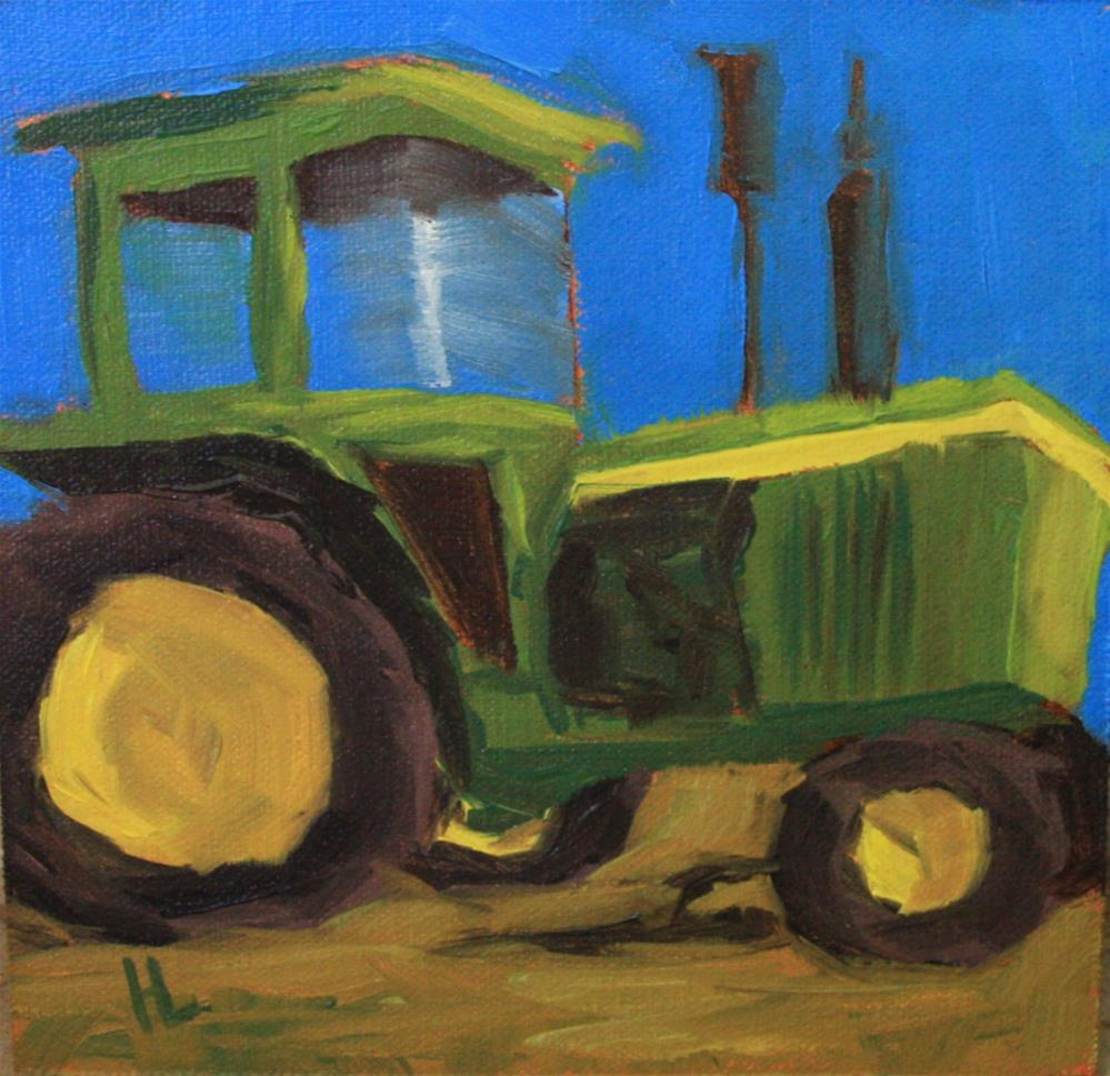 """""""Little John Deere"""" original fine art by Heather Lehmberg"""