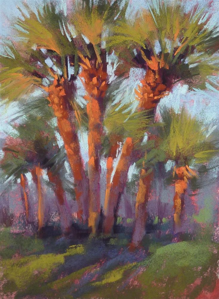 """""""How to Make Your Palm Trees Glow"""" original fine art by Karen Margulis"""