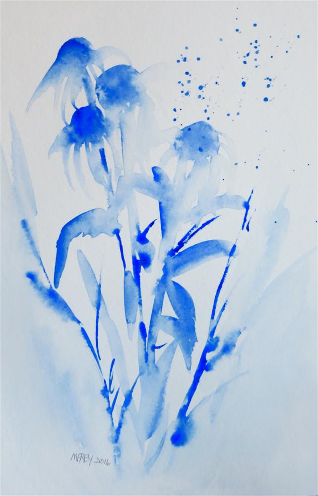 """Cone Flowers 0112"" original fine art by Michelina Frey"