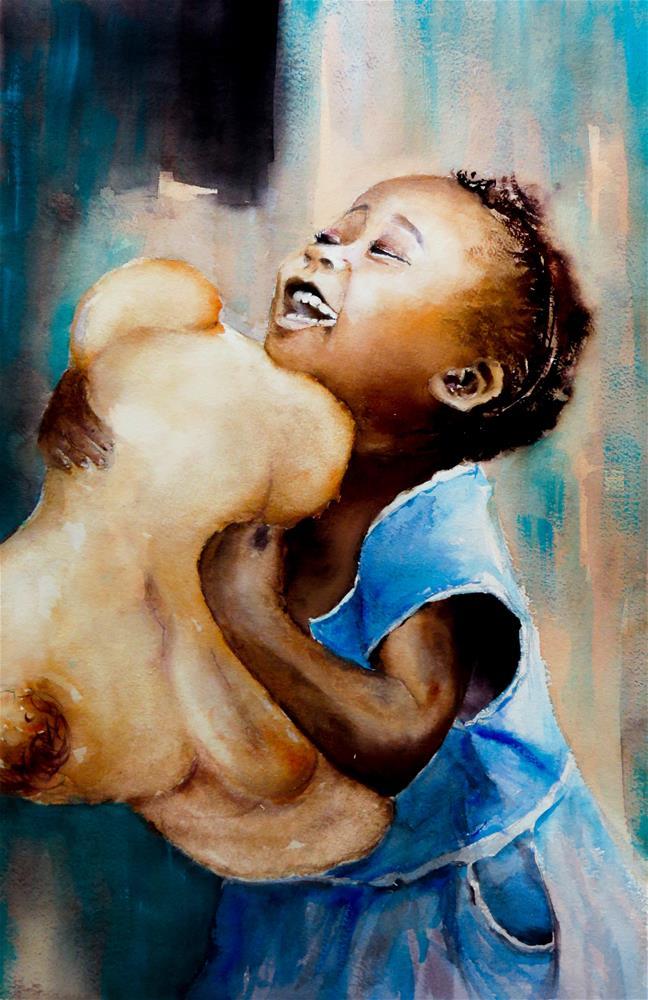 """My Teddy"" original fine art by Christa Friedl"