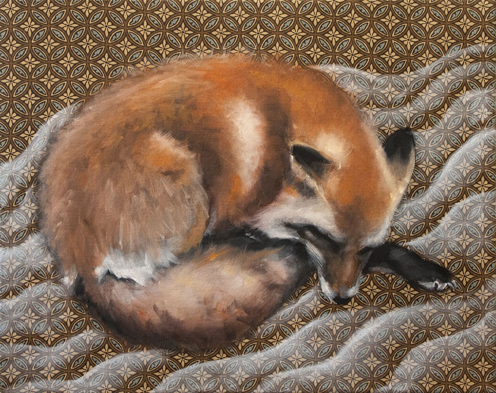"""Fox Dreams II"" original fine art by Clair Hartmann"