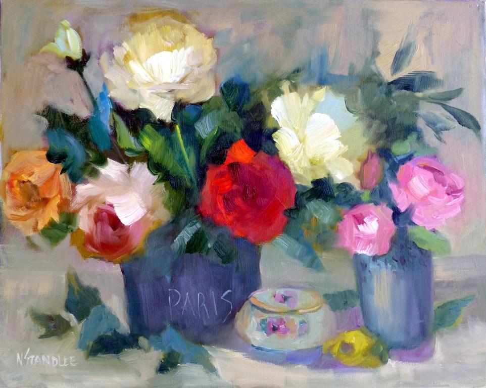 """Paris Roses 14019"" original fine art by Nancy Standlee"