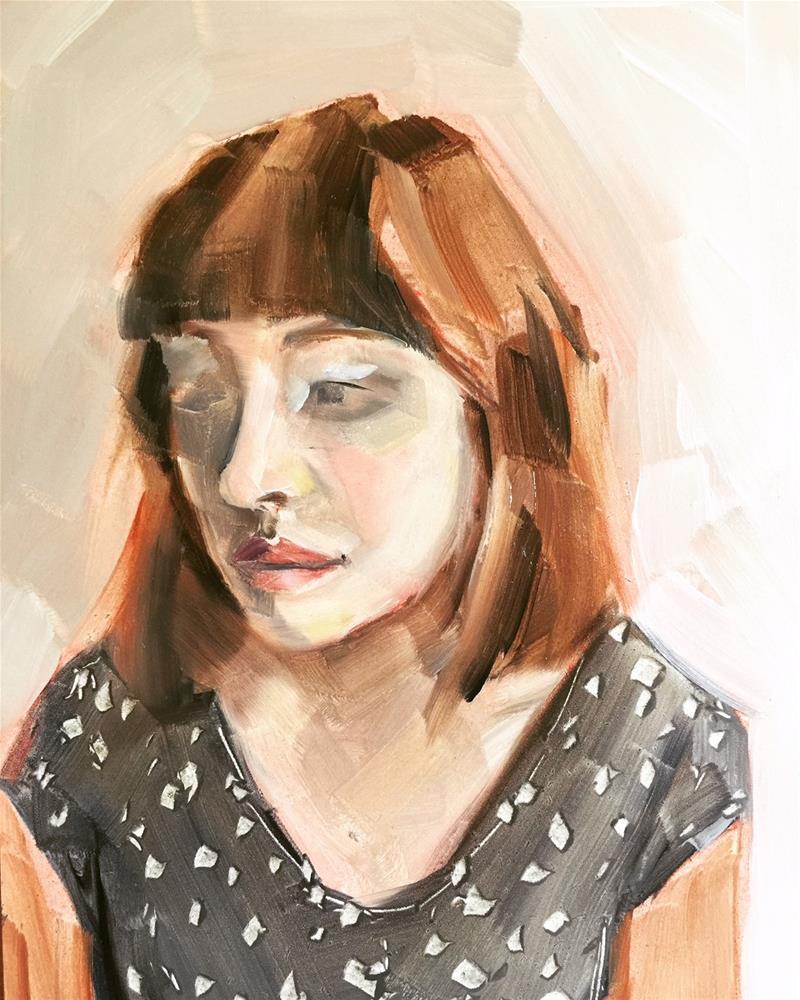 """519 Becoming 2"" original fine art by Jenny Doh"