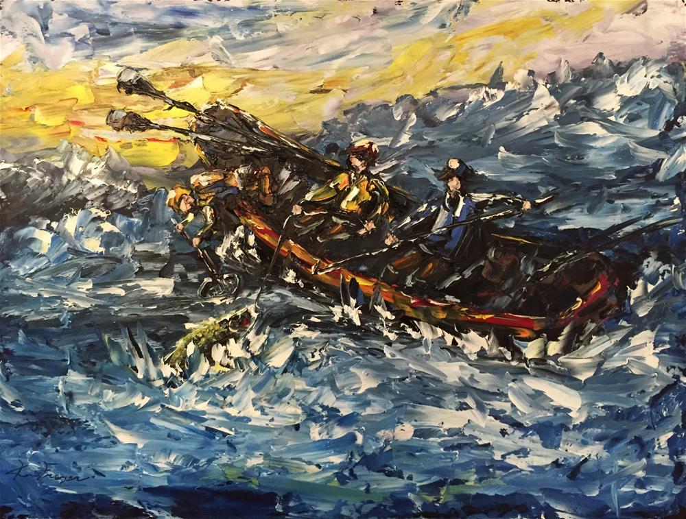 """""""Tough Battle"""" original fine art by Ken Fraser"""
