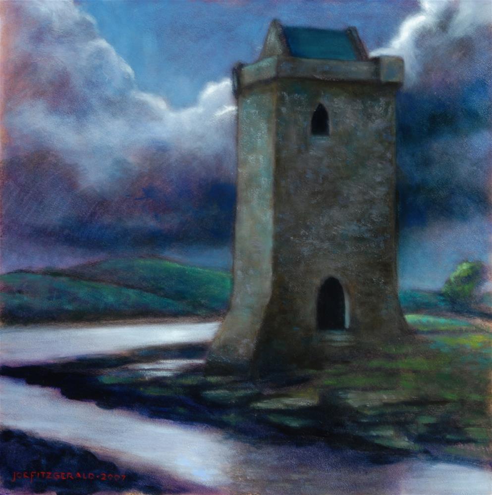 """""""Rockfleet Castle, County Mayo, Ireland"""" original fine art by Joe Fitzgerald"""