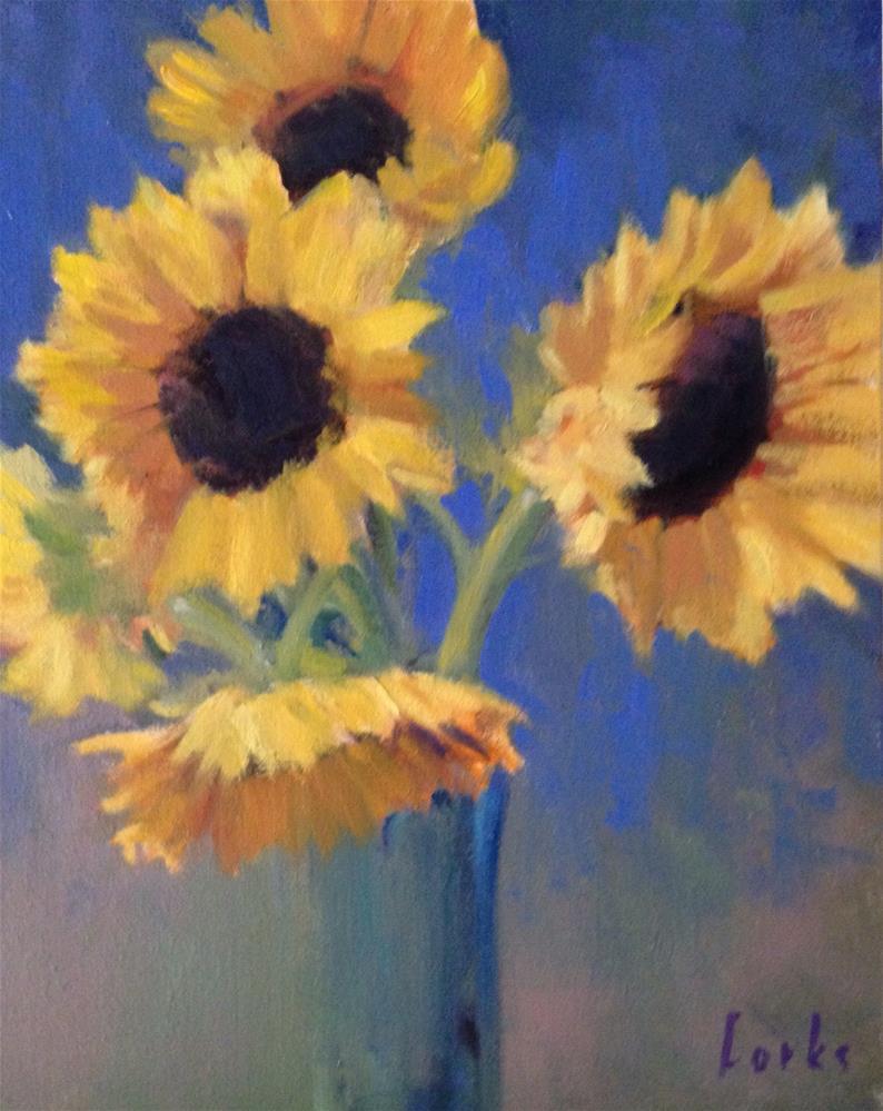 """Sunflower Study"" original fine art by David Forks"