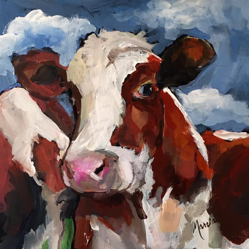 """Hello Handsome"" original fine art by Marcia Hodges"