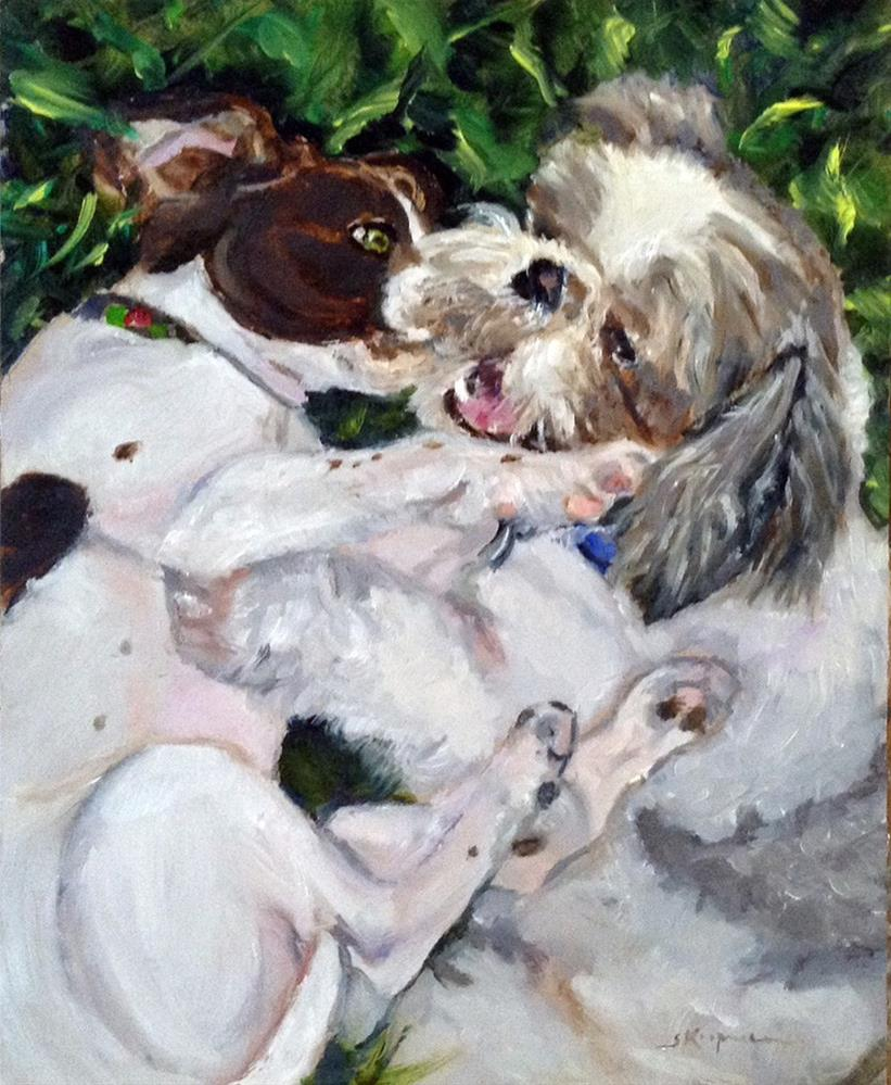 """""""Love the One You're With"""" original fine art by Shelley Koopmann"""