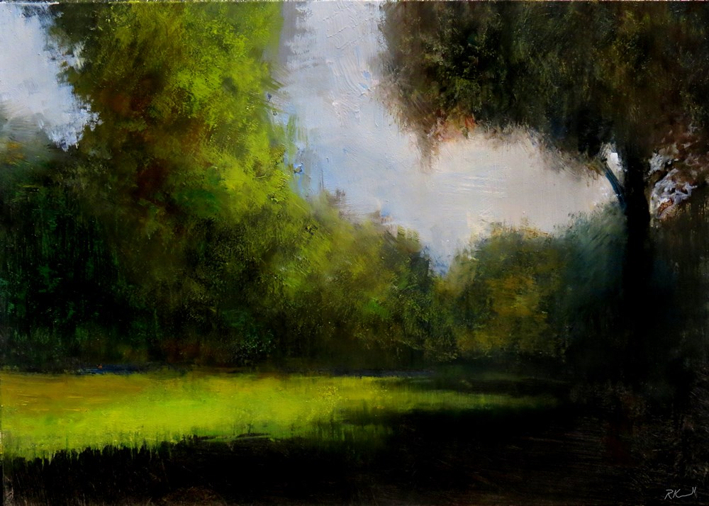 """""""The Opening in the Woods"""" original fine art by Bob Kimball"""