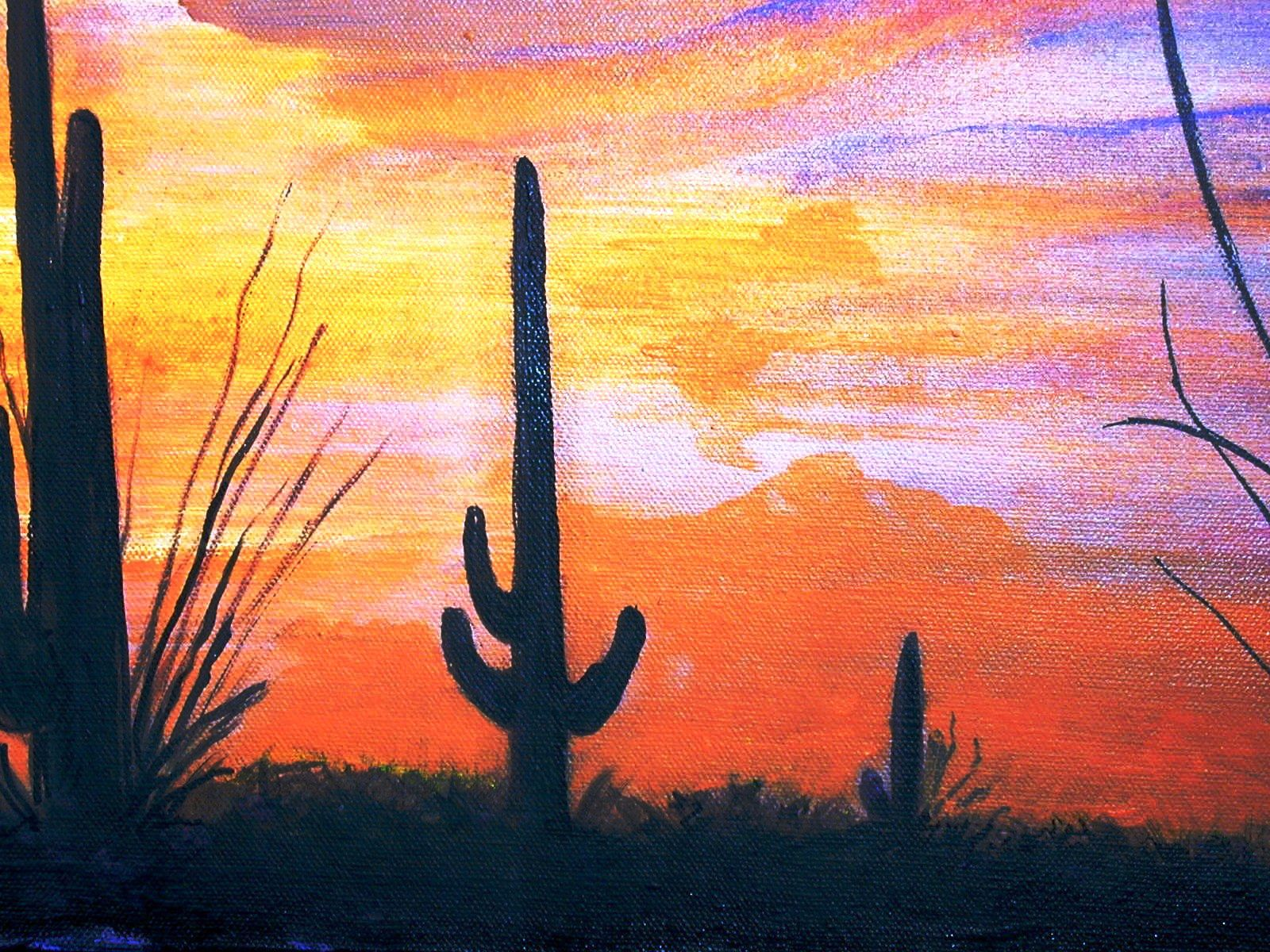"""Arizona Sunset"" original fine art by Barbara Lemley"