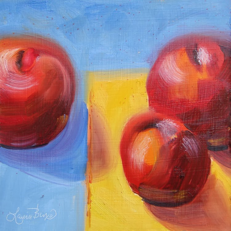 """""""Red, Yellow and Blue - 83"""" original fine art by Laura  Buxo"""
