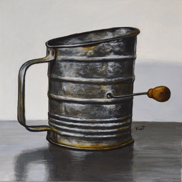 """Gram's Flour Sifter"" original fine art by Kim Testone"