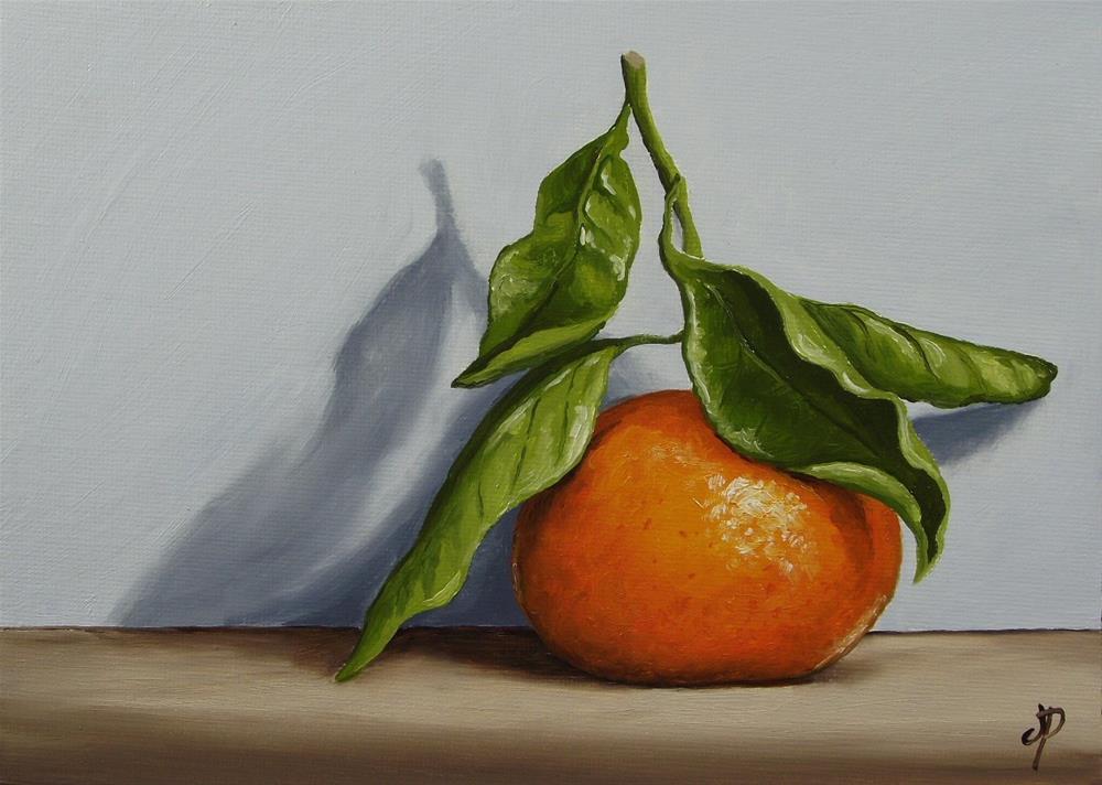 """""""Clementine Shadow"""" original fine art by Jane Palmer"""