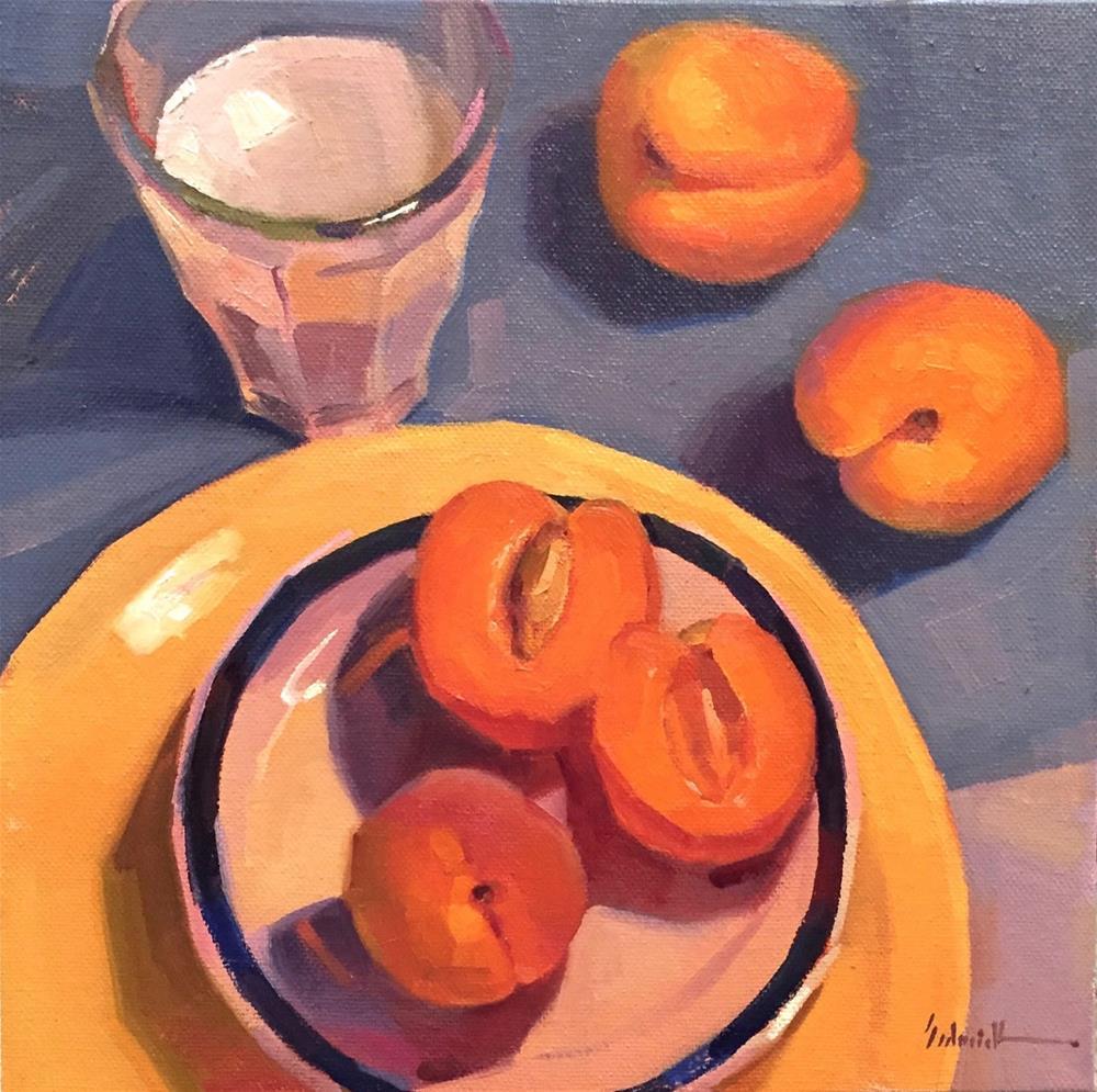 """Apricots, Fake Milk, and Art Mentorship"" original fine art by Sarah Sedwick"