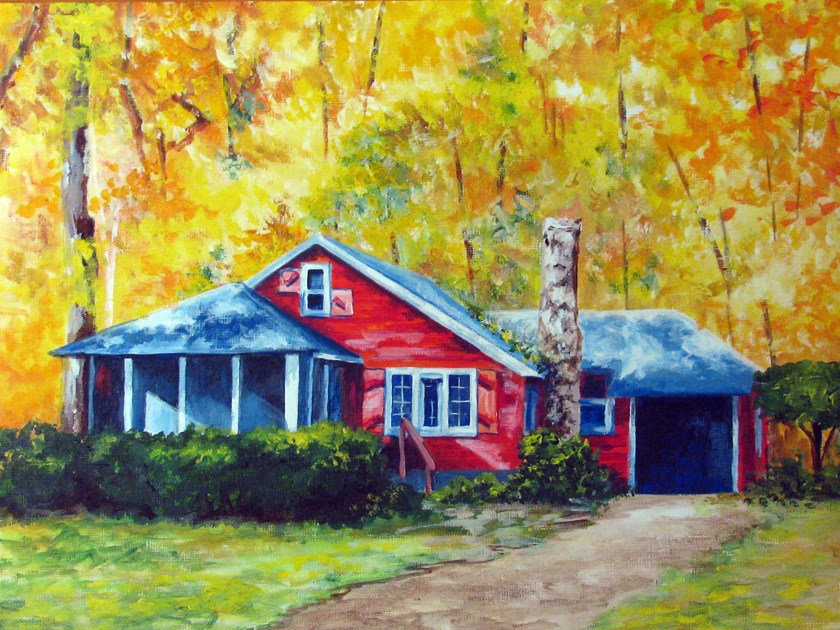 """Going Up the Country"" original fine art by Nan Johnson"