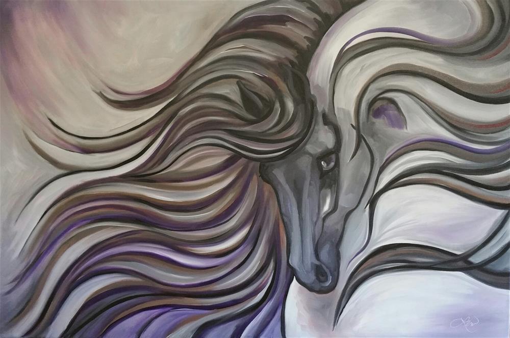 """Purple Haze"" original fine art by Leni Tarleton"