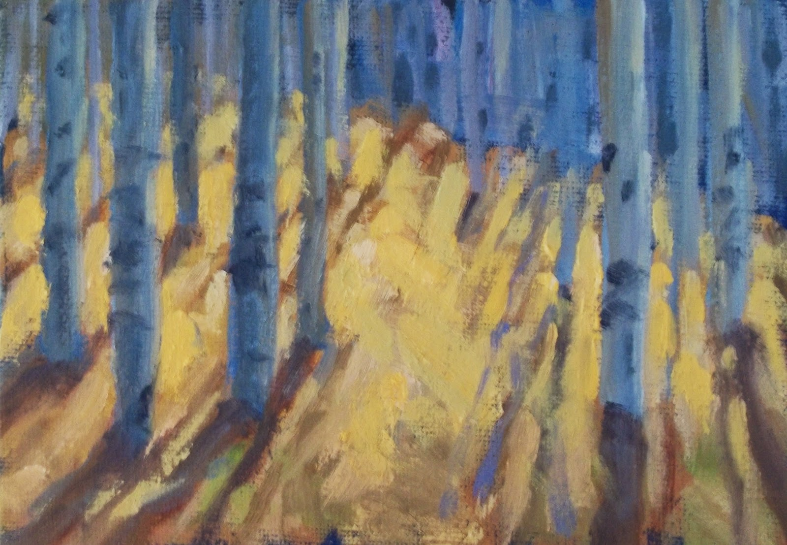 """Fall #2"" original fine art by Deborah Newman"