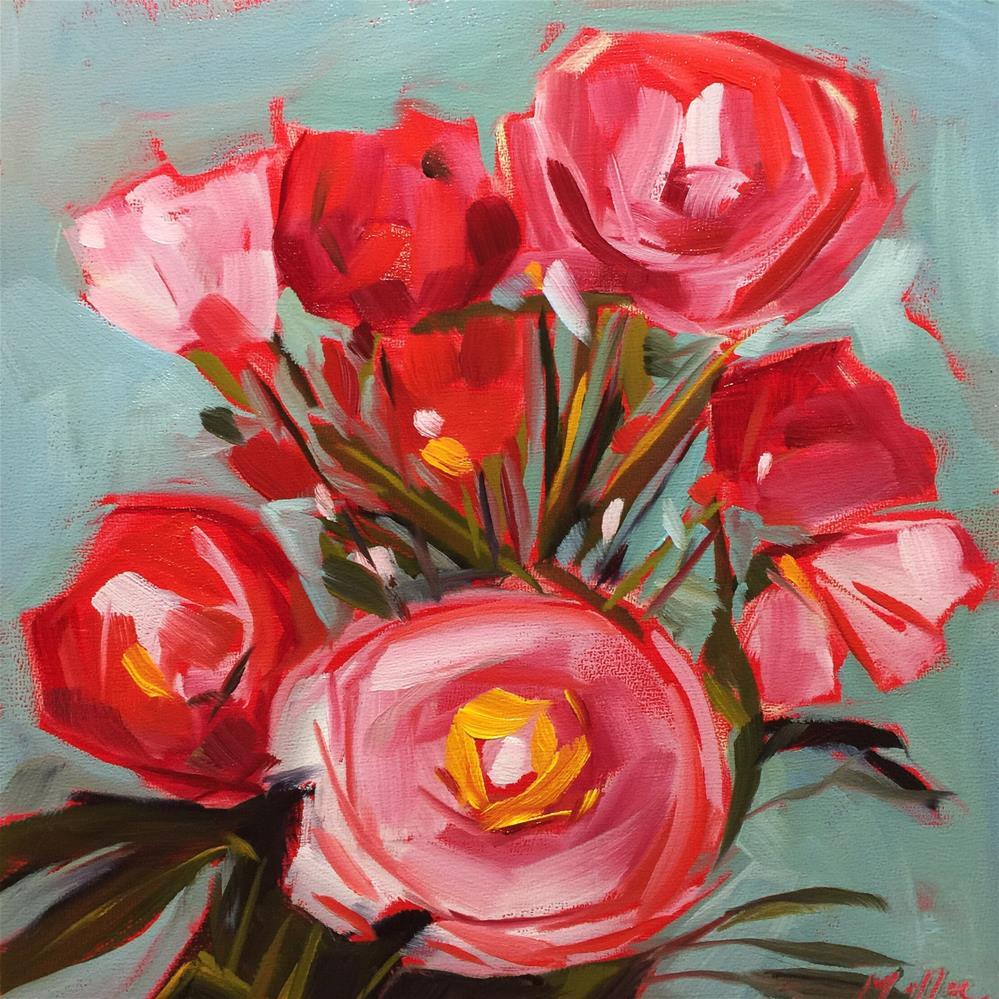 """0455: Peonies for Saturday"" original fine art by Brian Miller"