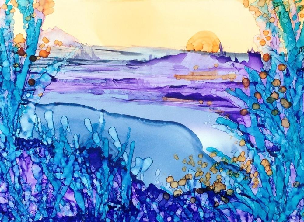 """Cool Sunrise"" original fine art by Kelly Alge"