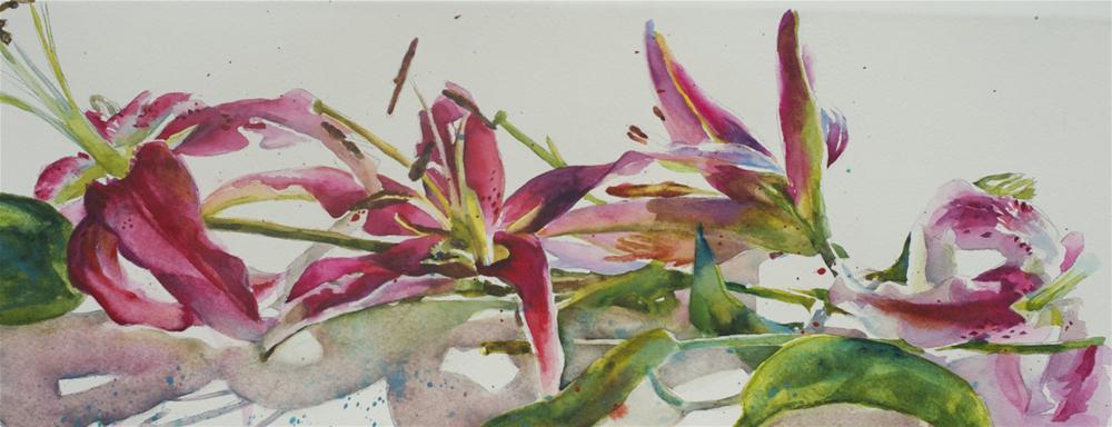 """""""Lily Study"""" original fine art by Sue Churchgrant"""