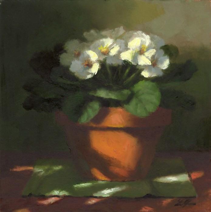 """""""Violets in Light"""" original fine art by Linda Jacobus"""
