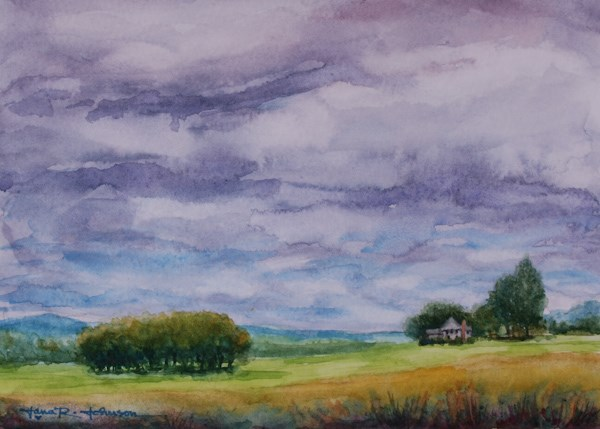 """Possible Showers"" original fine art by Jana Johnson"