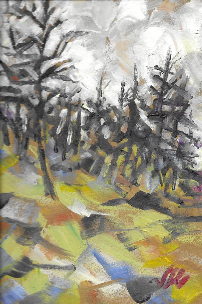 """Hillside"" original fine art by Jean Krueger"