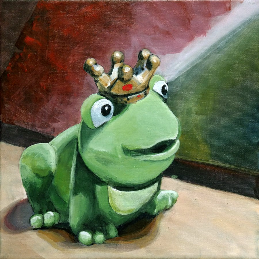 """1290 Froggy"" original fine art by Dietmar Stiller"