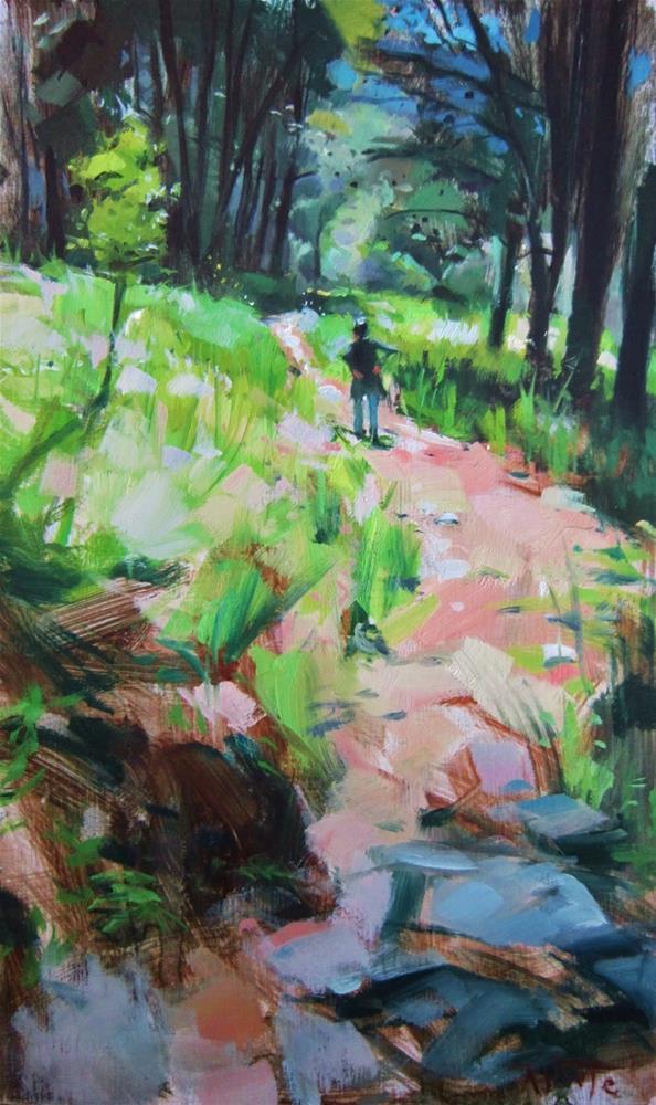 """Winding path"" original fine art by Víctor Tristante"