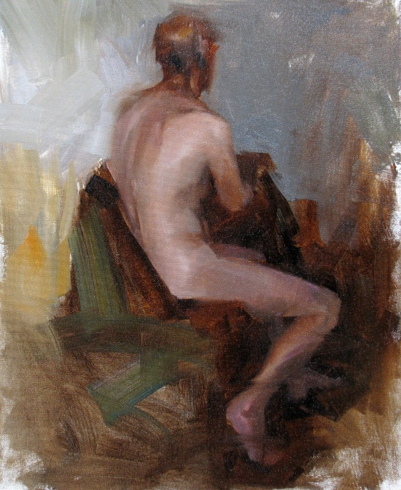 """AAU Figure Painting 4 (Day 1)"" original fine art by Qiang Huang"
