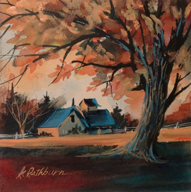 """It's FALL-ing"" original fine art by Kathy Los-Rathburn"