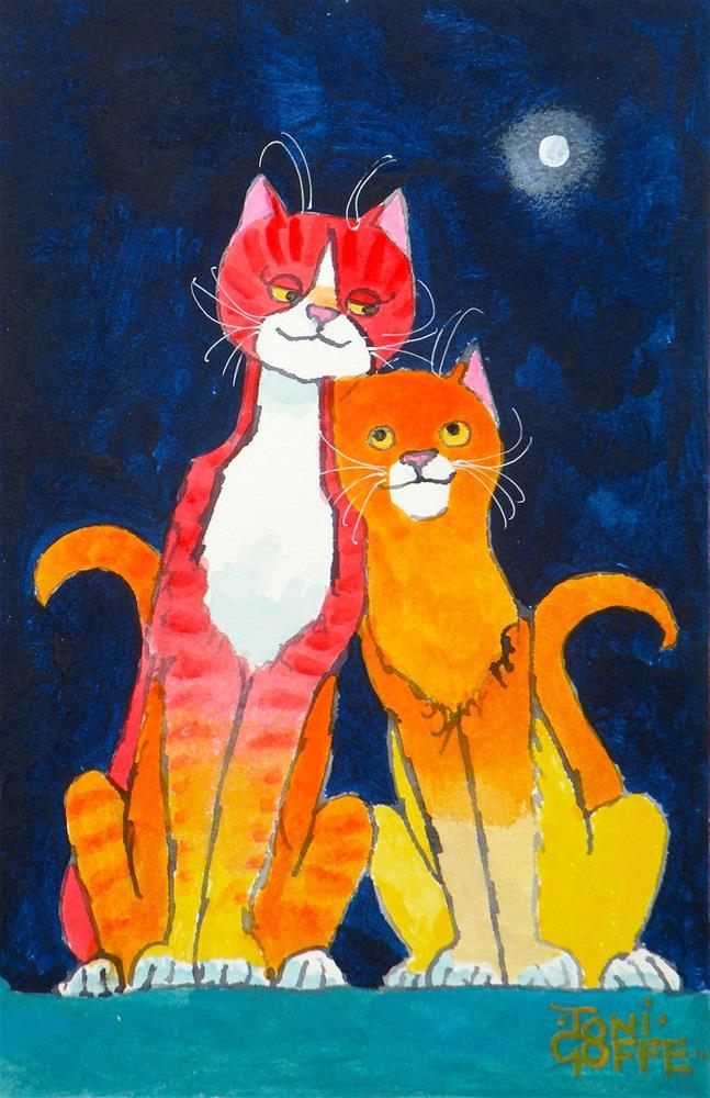 """Leaning Love"" original fine art by Toni Goffe"