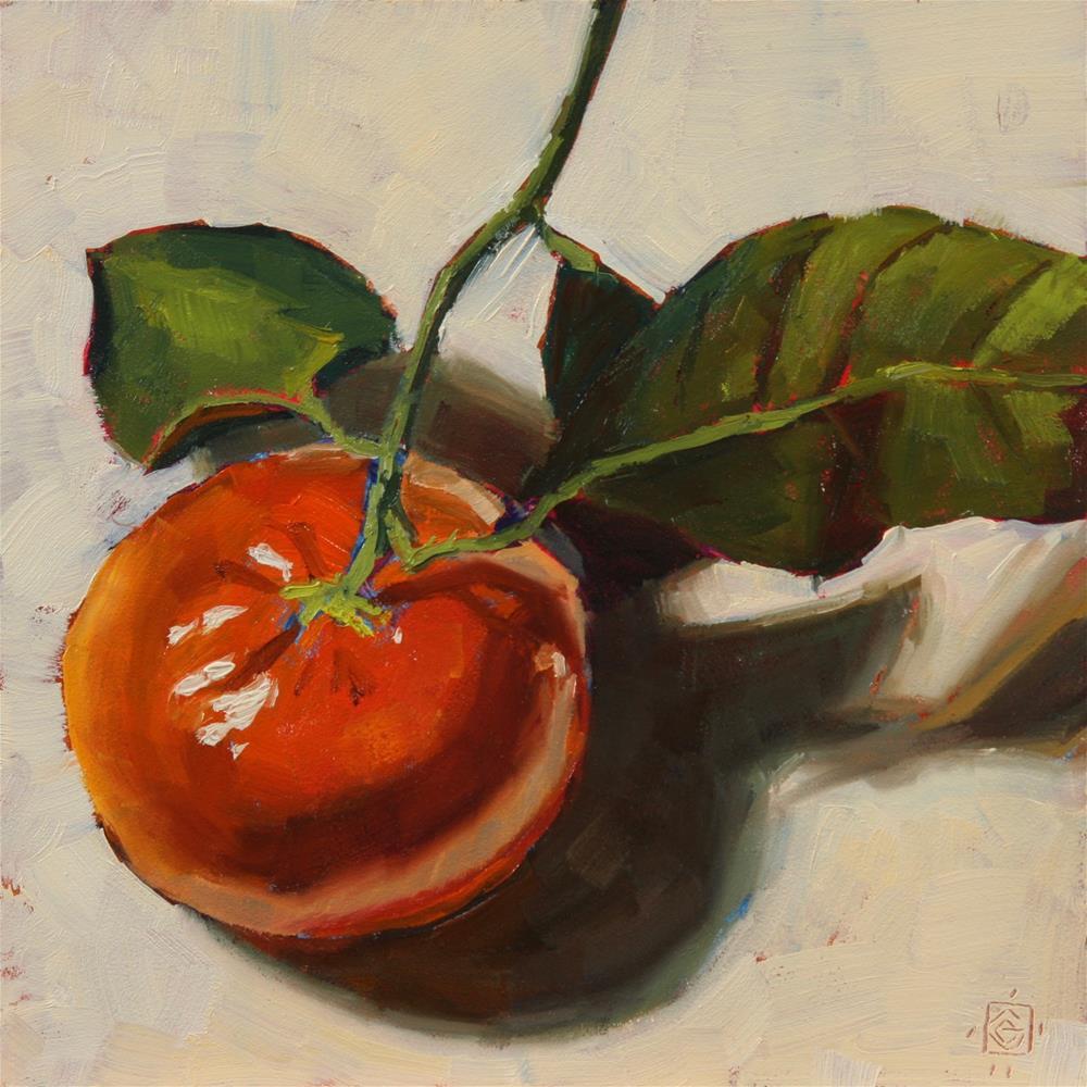 """Mandarin Muse"" original fine art by Carol Granger"