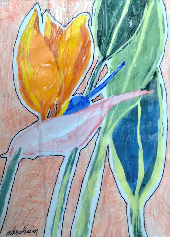 """Bird of Paradise"" original fine art by Linda Blondheim"