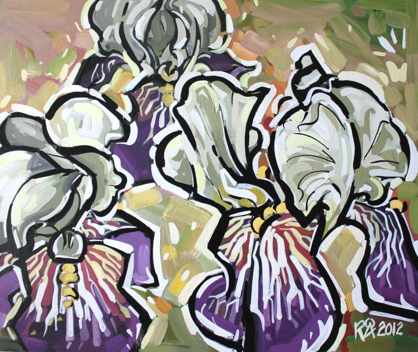 """Iris abstraction 11"" original fine art by Roger Akesson"