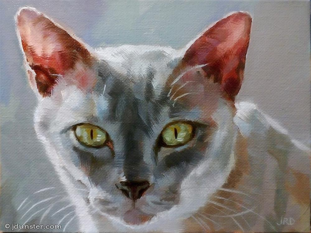 """Backlit Feline"" original fine art by J. Dunster"