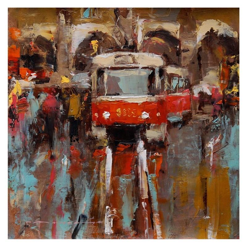 """Cityscape"" original fine art by Angel Angelov"