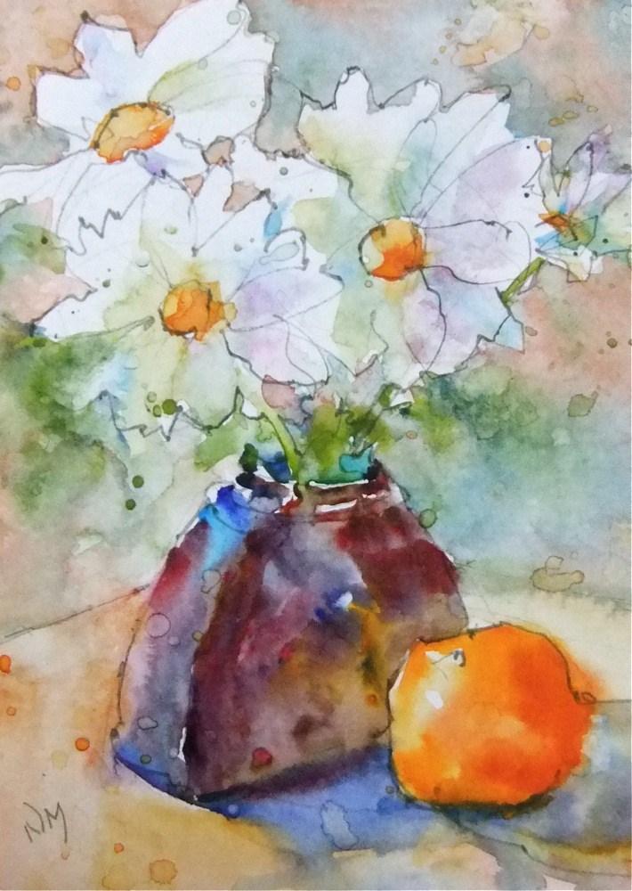 """on the flip side"" original fine art by Nora MacPhail"