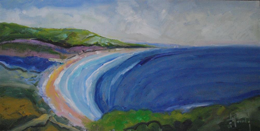 """""""Path At Crystal Cove"""" original fine art by Deborah Harold"""