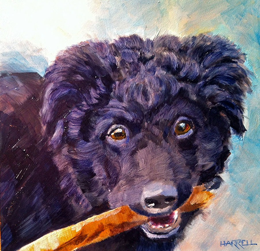 """Winnie"" original fine art by Sue Harrell"